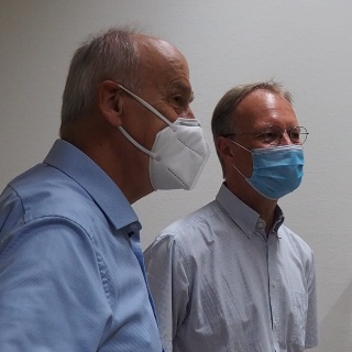 Dr. Irion (Karl Storz SE& Co KG) und Prof. Sawodny (Uni Stuttgart)